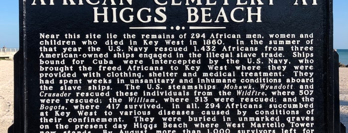 African Cemetery at Higgs Beach is one of The Keys.