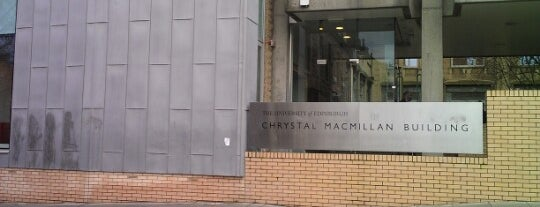Chrystal Macmillan Building is one of Inspired locations of learning.