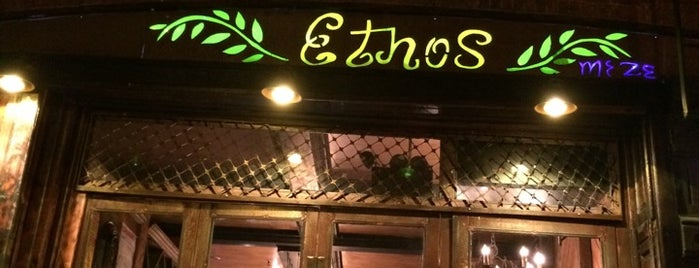 Ethos Meze East Village is one of Locais salvos de Michael L.