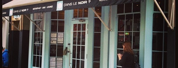 Dans le Noir is one of London date places.