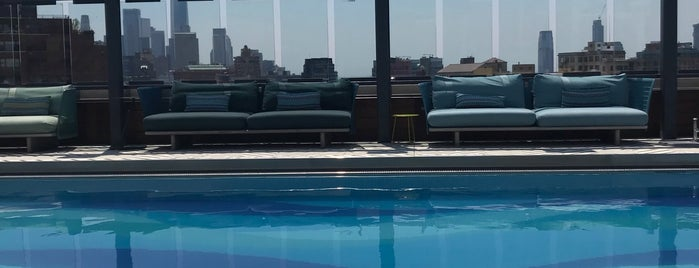 Gansevoort's Rooftop Swimming Pool is one of New York - Manhattan.