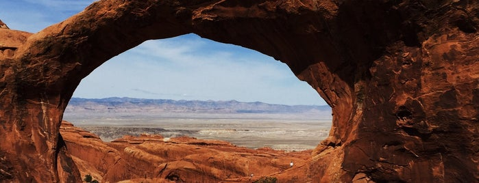 Double O Arch is one of Arches Nat'l.