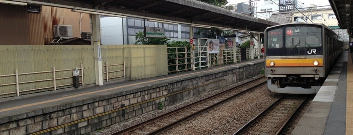 Inadazutsumi Station is one of JR 미나미간토지방역 (JR 南関東地方の駅).