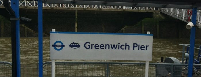 Greenwich Pier is one of Greenwich and Docklands; London.