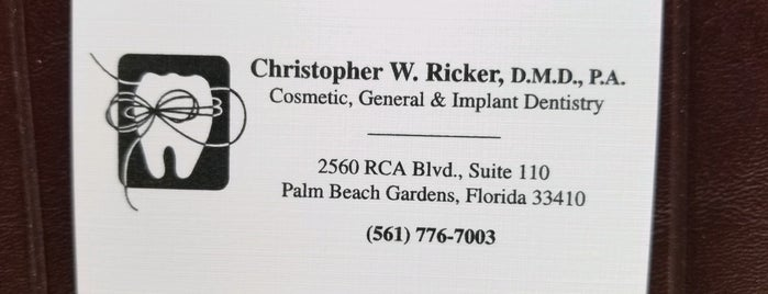 Christopher W. Ricker, D.M.D., P.A.- Dentist is one of Steven's Liked Places.