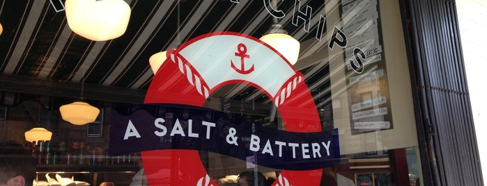 A Salt & Battery is one of Lieux qui ont plu à Mark.