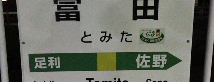 Tomita Station is one of JR 키타칸토지방역 (JR 北関東地方の駅).
