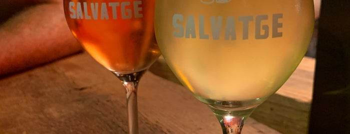 Bar Salvatge is one of Natural wines in Barcelona.