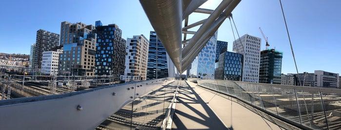 Akrobaten Pedestrian Bridge is one of Oslo.