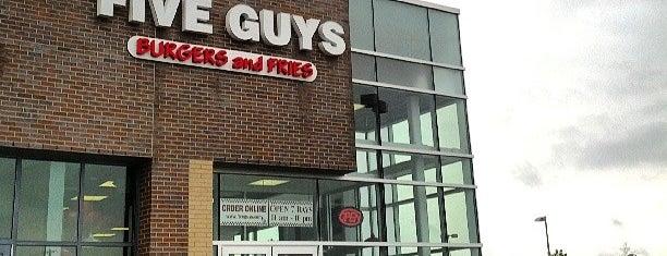 Five Guys is one of Locais curtidos por Steven David.