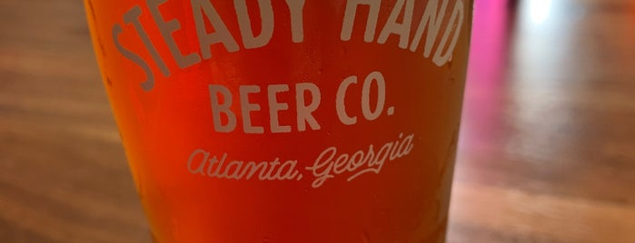 Steady Hand Beer Co. is one of West Midtown.