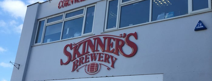Skinners Brewery is one of Cornwall.