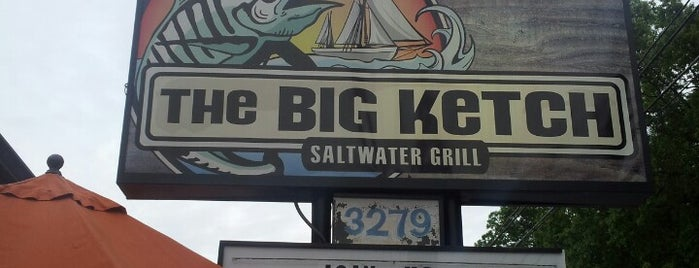 The Big Ketch Saltwater Grill is one of atl.