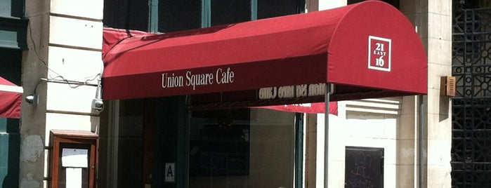 Union Square Cafe is one of Venues with free Wi-Fi in NYC.
