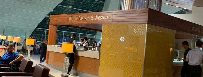 Emirates Business Class Lounge is one of Posti che sono piaciuti a aziz.