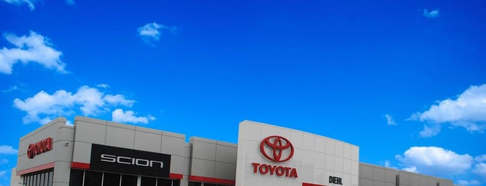 Diehl Toyota of Butler is one of My places.
