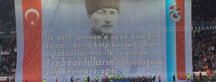 Hüseyin Avni Aker Stadyumu is one of Tempat yang Disukai Taner.