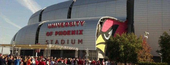 State Farm Stadium is one of Phoenix, AZ.