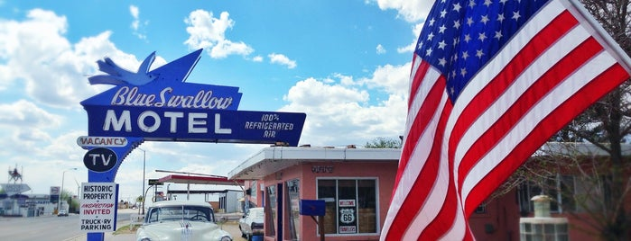 The Blue Swallow Motel is one of Historic Route 66.