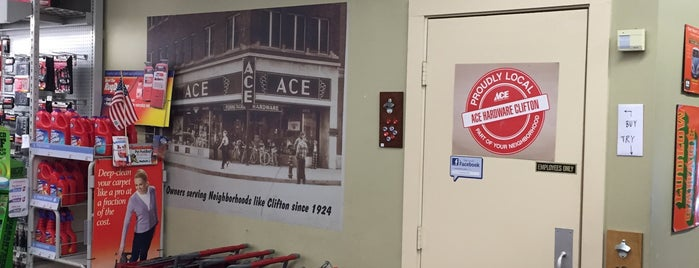 Ace Hardware Clifton is one of Fixer Upper Badge - Cincinnati Venues.