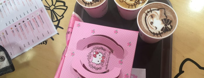Hongdae Hello Kitty Cafe is one of Locais curtidos por Arie.