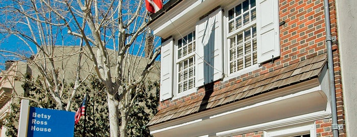 Betsy Ross House is one of Historic Philadelphia.