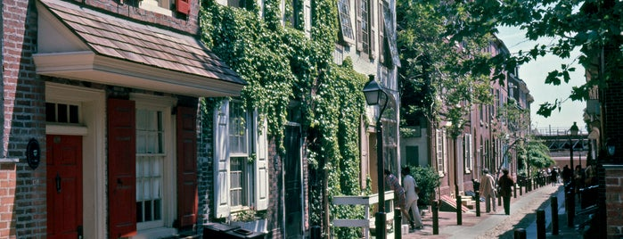 Elfreth's Alley is one of Historic Philadelphia.