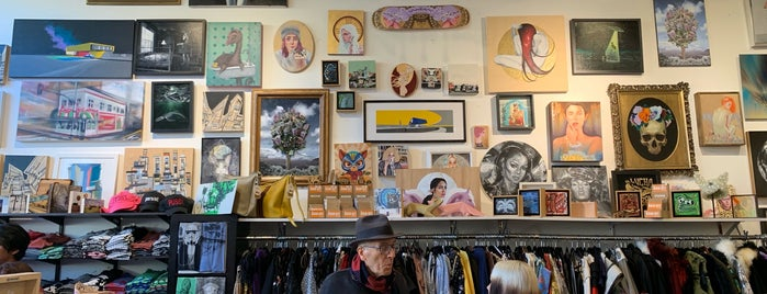 Wonderland Gallery and Boutique is one of SF To Do.