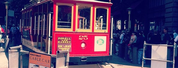Powell Street Cable Car Turnaround is one of Golden tips for the Golden State.