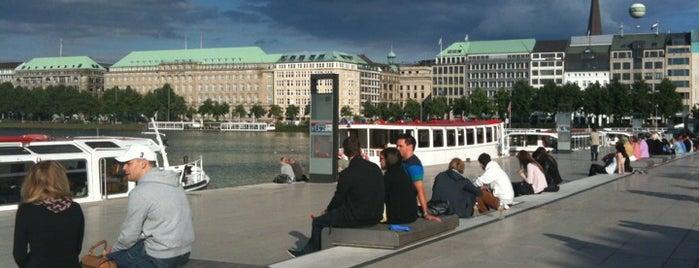 Jungfernstieg is one of StorefrontSticker #4sqCities: Hamburg.