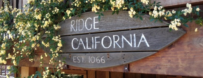 Ridge Vineyards - Monte Bello is one of San Jose.