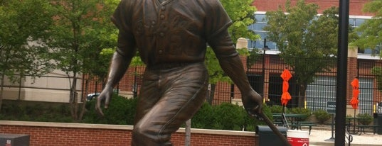 Frank Robinson sculpture by Toby Mendez is one of The Great Baltimore Check In 2012.