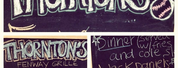 Thornton's Fenway Grille is one of DigBoston's Tip List.