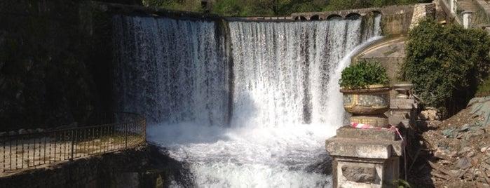 Новоафонский водопад | ჩანჩქერი is one of Tempat yang Disimpan Kate.