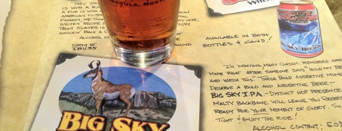 Big Sky Brewing Company is one of Missoula - to visit.