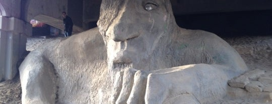 The Fremont Troll is one of 2012 MLA Seattle.