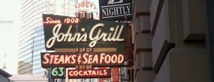 John's Grill is one of Pacific Old-timey Bars, Cafes, & Restaurants.