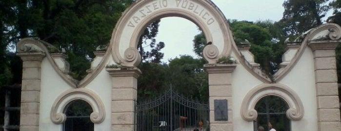 Passeio Público is one of Escola de Saúde e Biociências.