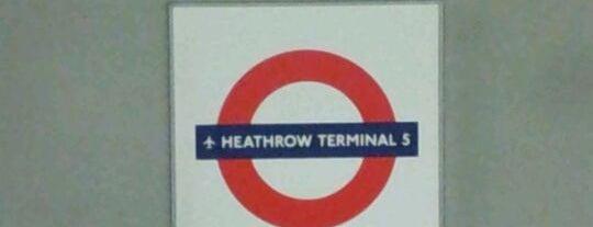 Heathrow Terminal 5 London Underground Station is one of Underground Stations in London.
