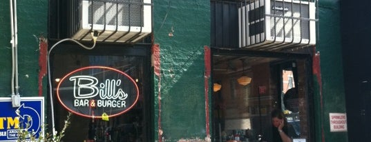 Bill's Bar & Burger is one of DOWNTOWN food.