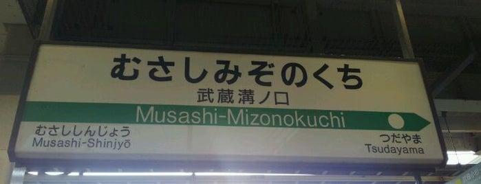 Musashi-Mizonokuchi Station is one of JR 미나미간토지방역 (JR 南関東地方の駅).
