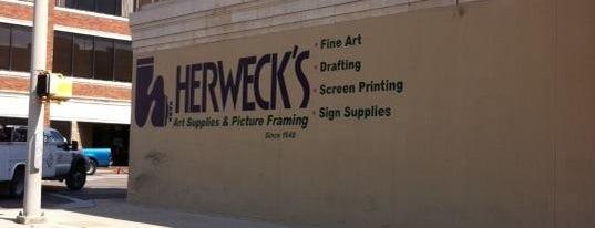 Herweck's Art Supplies is one of สถานที่ที่ Adan ถูกใจ.