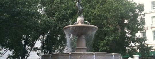 Pulitzer Fountain is one of NYC Midtown.