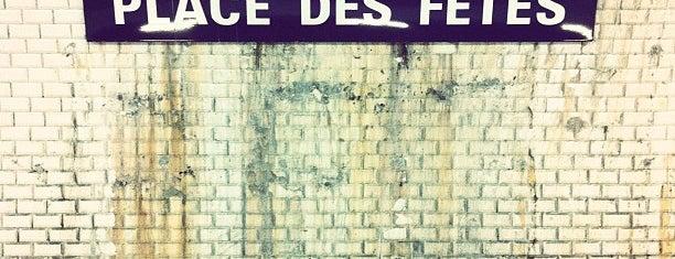 Métro Place des Fêtes [7bis,11] is one of Went before.