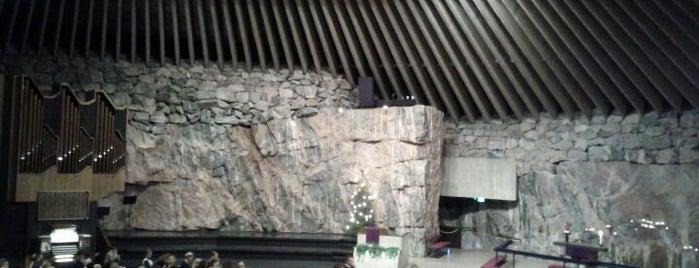 テンペリアウキオ教会 is one of Helsinki, Finland #4sqCities.