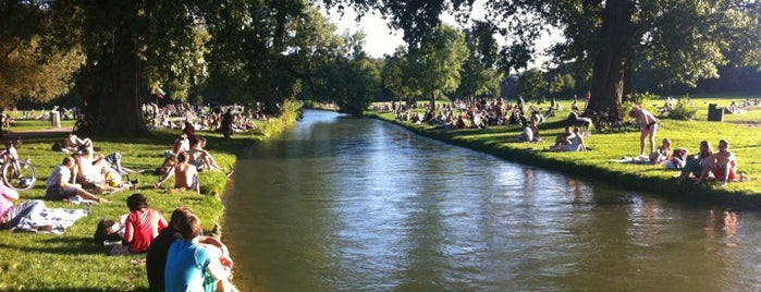 Eisbach is one of Munich places to go.