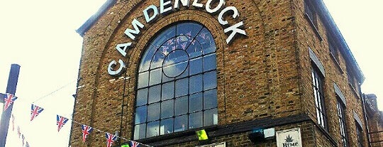 Camden Lock Village is one of 10(ish) Amazing Budget Eats + Drinks in London.