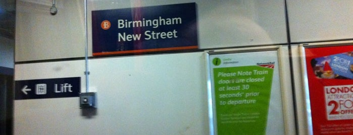 Birmingham New Street Railway Station (BHM) is one of You calling me a train spotter?.