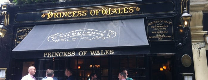 The Princess of Wales is one of Lieux qui ont plu à Carl.