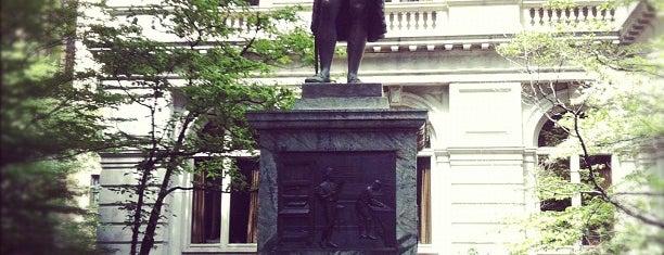 Benjamin Franklin Statue is one of Beantown.